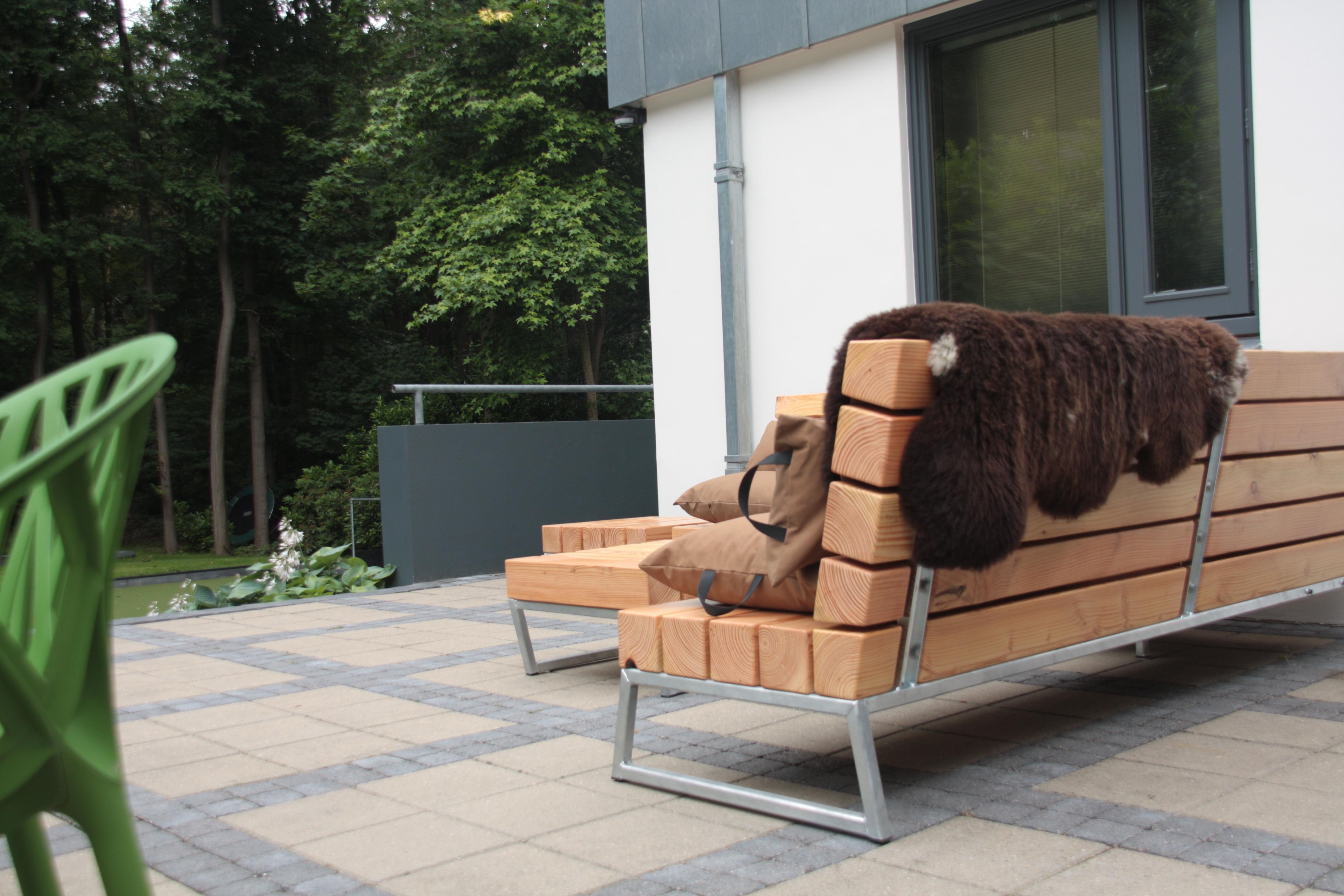 Loungeset Tuin Hout : Loungebank loungeset lounge ook milieubewust douglas hout milieu