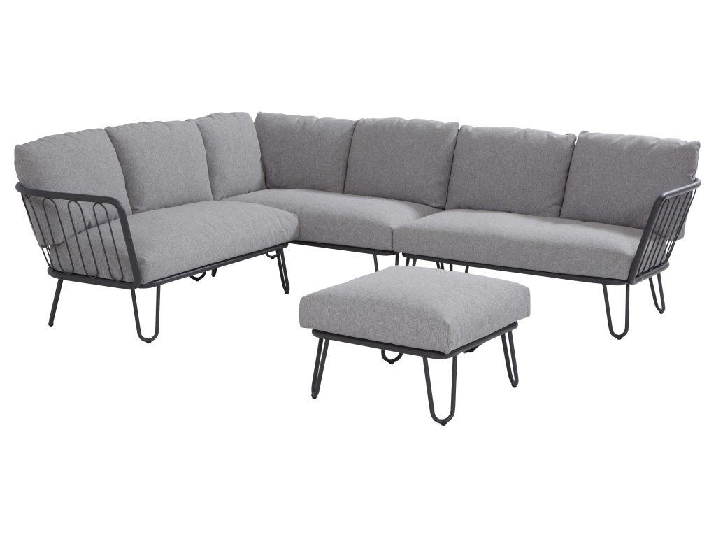 hoek loungeset aluminium