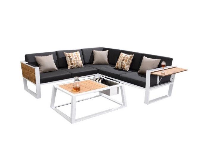 hoek loungeset van aluminium