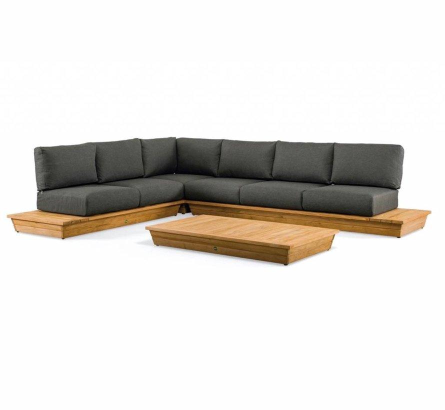mooie houten loungehoek