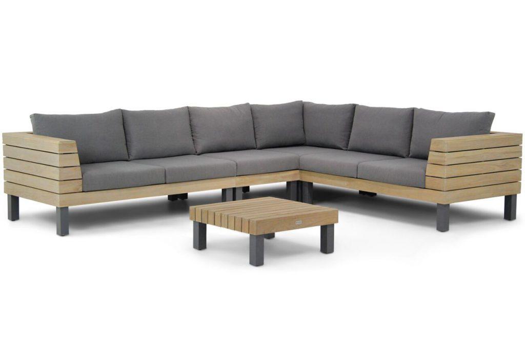 stevige houten loungebank