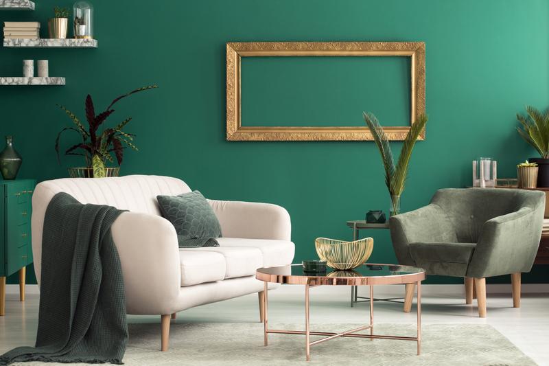 Groen in de woonkamer