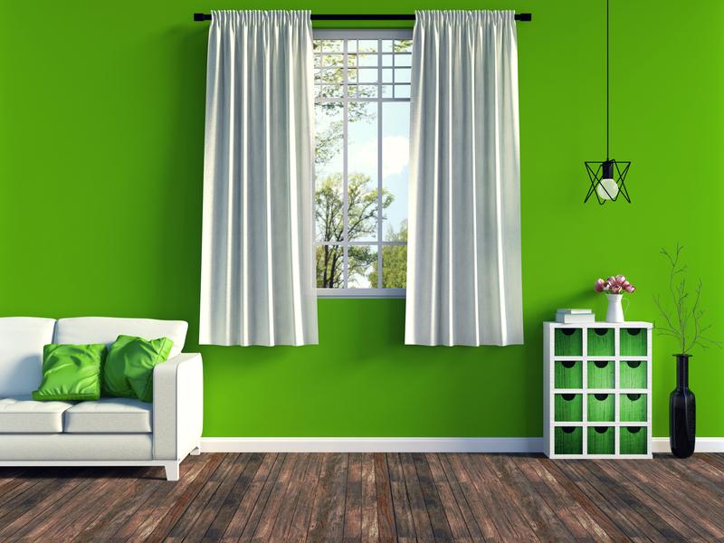 Groene meubels