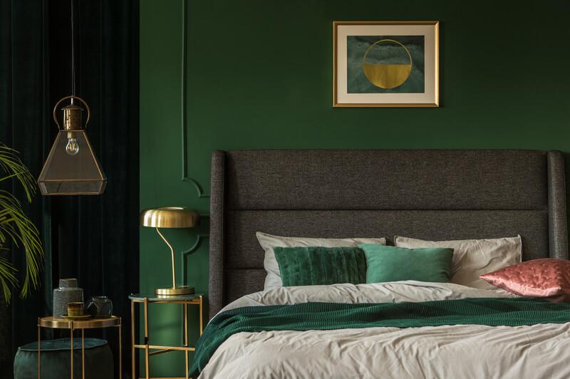 groene slaapkamer inrichting