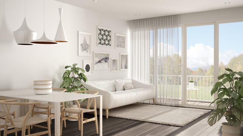 Witte meubels in huis