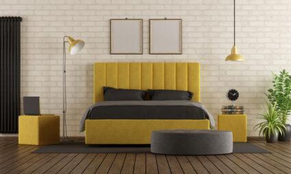Geel in je slaapkamer
