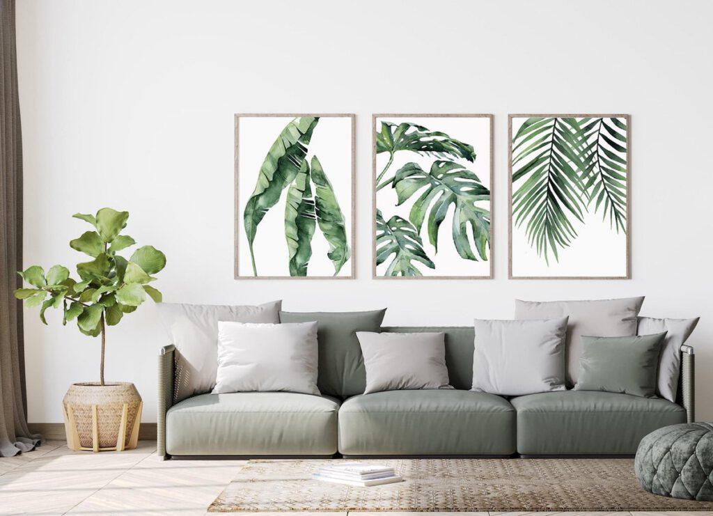 Botanisch Design Canvas Poster Set