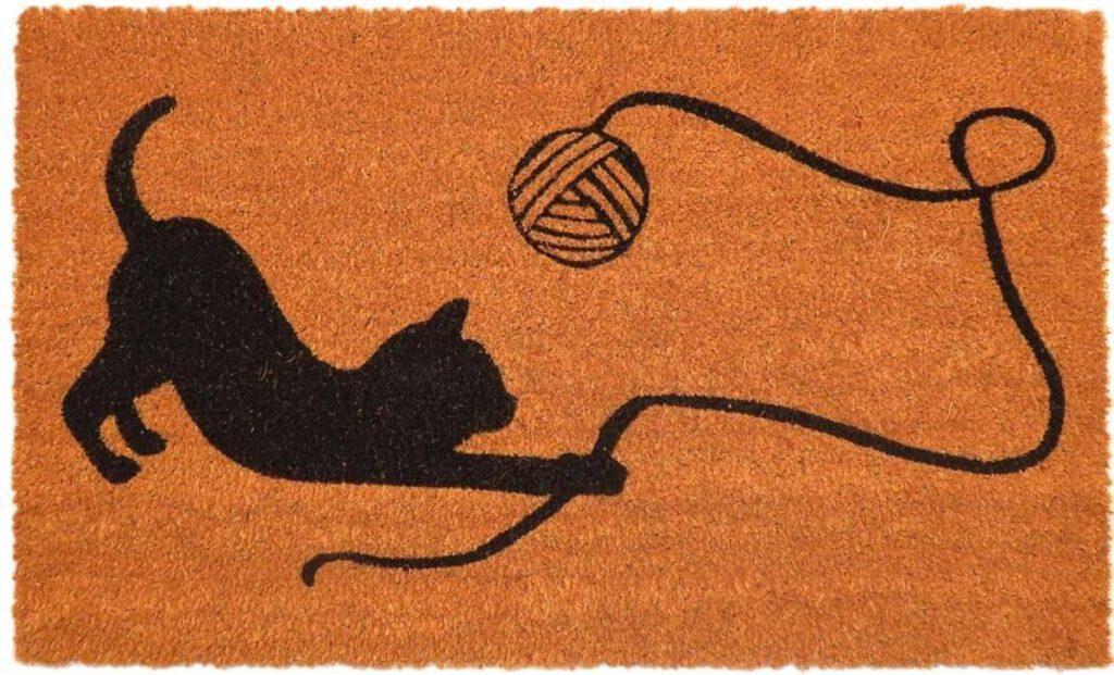 Ikado Kokosmat met spelend katje