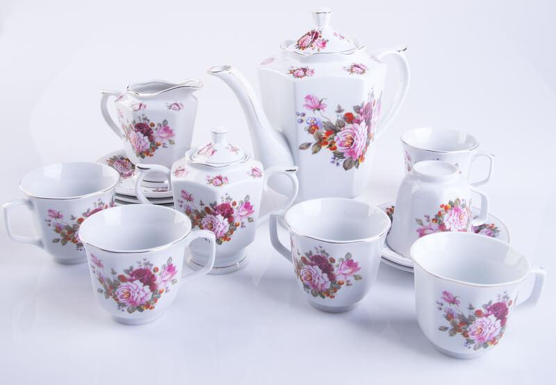 theeservies van Porselein mooi houden